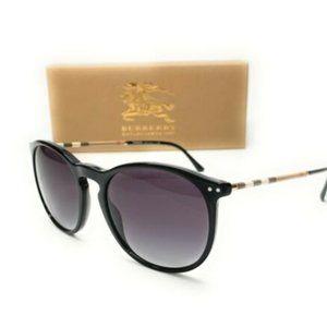 Burberry Men's Black and Grey Gradient Sunglasses!